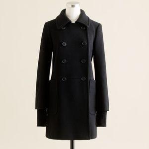 J. Crew Wool Stadium Cloth Academy Coat in Black